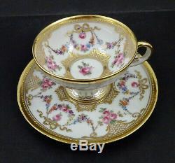 Antique Hirsch Dresden Demitasse Cup & Saucer
