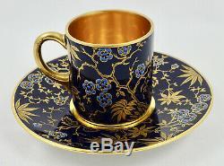 Antique Hutschenreuther Demitasse Cup & Saucer, Jeweled