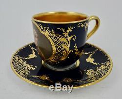Antique Hutschenreuther Demitasse Cup & Saucer, Vienna Style