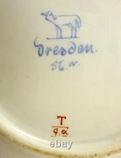 Antique Lamm Dresden Demitasse Cup & Saucer, Meissen Style (A)