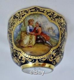 Antique Lamm Dresden Demitasse Cup & Saucer, Meissen Style (B)