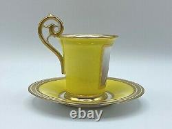 Antique Manufacture Imperiale de Sèvres Portrait Demitasse Cup & Saucer Signed