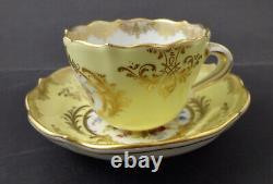 Antique Meissen Demitasse Cup & Saucer, Deutsche Blumen