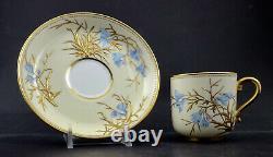 Antique Mintons Demitasse Cup & Saucer, Enameled