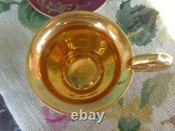 Antique Painted Signed Cherub Royal Vienna Beehive Cabinet Demitasse Cup Saucer