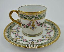 Antique Pickard Demitasse Cup & Saucer, Hand Painted