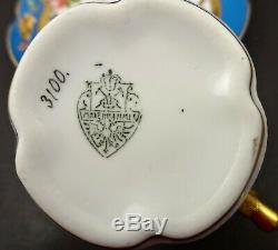 Antique Pirkenhammer Demitasse Cup & Saucer