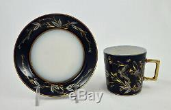 Antique Pouyat Limoges Demitasse Cup & Saucer, Made for Tiffany