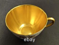 Antique Royal Doulton Demitasse Cup & Saucer, Gilded