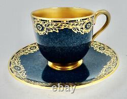 Antique Royal Worcester Demitasse Cup & Saucer