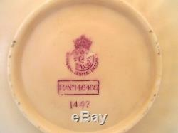 Antique Royal Worcester Demitasse Cup and Saucer, pre 1862