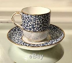 Antique Royal Worcester Porcelain Demitasse Cup & Saucer
