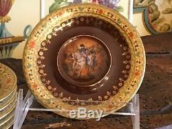 Antique S/6 Czechoslovakian Demitasse Cups & Saucers Fine Porcelain