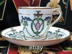 Antique Set of 12 Mintons ADAM demitasse cups and saucers, Neo Classic