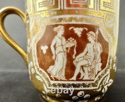Antique Spode Copelands Demitasse Cup & Saucer, Grecian Style