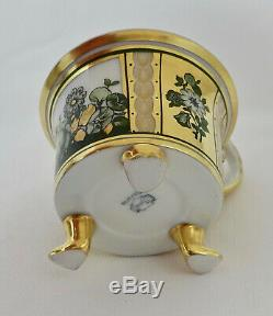 Antique Thomas Bavaria Demitasse or Mocha Cup & Saucer, Footed