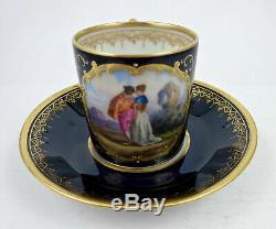 Antique Weshsener Dresden Demitasse Cup & Saucer