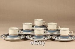 Arabia Finland 6 UHTUA coffee cup with saucer and demitasse INKERI LEIVO
