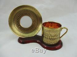 Arabia, Finland Esteri Tomula Mocha/Demitasse Cups & Saucers Set of 5