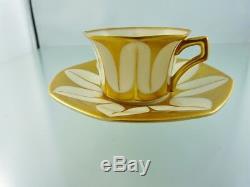 Art Deco Heavy Guilding Demitasse Cup & Saucer Set By Graf & Krippner Bavaria