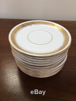 Art Deco Rosenthal DONATELLO GOLD ENCRUSTED Demitasse Cup & Saucer Set of 12