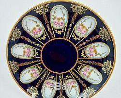Art Deco Rosenthal Demitasse Cup & Saucer Cobalt Blue & Roses