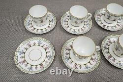 Bernardaud Limoges Chateaubriand Green Set of 9 Demitasse Cups and 10 Saucers