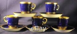 Bing and Grondahl Demitasse sets cup saucer 5 set royal blue gilt gold 1920's