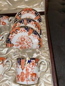 Boxed Set Royal Crown Derby Demitasse Cups and Saucers England