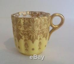 COALPORT England Demitasse Cup & Saucer, Gilt Decoration, c. 1881-1891 (#2)