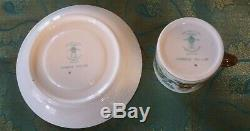CROWN STAFFORDSHIRE CHINESE WILLOW Coffee Pot & 10 Demitasse Cups and Saucers