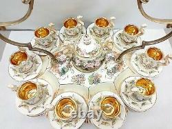 Capodimonte Tea Demitasse Espresso Cups Saucers Tray Set Cherub Serpent Italy