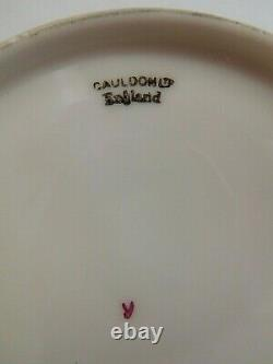Cauldron Ltd Demitasse Coffee Cup And Saucer Hand Painted With Flower