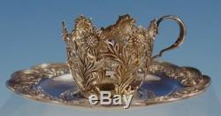 Chrysanthemum by Tiffany and Co. Sterling Silver Demitasse Cup withSaucer (#2952)