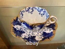 Coalport English Fine Bone China Demitasse Cup and Saucer
