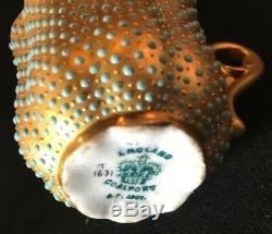 Coalport Porcelain Demitasse Cup & Saucer Jeweled