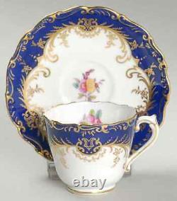 Coalport Sandringham Cobalt Blue Demitasse Cup & Saucer 1894217