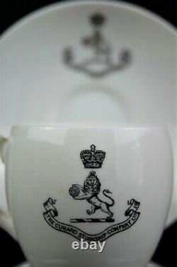 Cunard Line RMS CARPATHIA / LUSITANIA-Era 1st-Class Demitasse Cup and Saucer