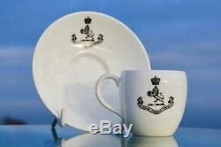 Cunard Line Rms Mauretania Lusitania Era 1st CL Minton Demitasse Cup & Saucer Af