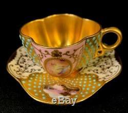 Demitasse Cup and saucer England Gold Coalport Gold