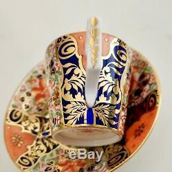 Derby King Street demitasse cup and saucer, Imari 1861-1935