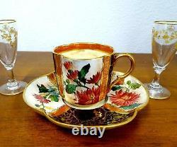 Doulton #549 Porcelain Asthetic Quatrefoil 2 1/4 Demitasse Cup & Saucer 1879