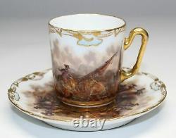 Dresden Helena Wolfsohn Panoramic Demitasse Cup & Saucer