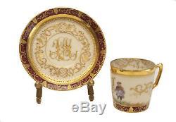 Dresden Porcelain Ambrosius Lamm Demitasse Cup & Saucer, circa 1900
