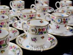 Dresden Schumann Arzberg Bavaria Empress Flowers 14 Demitasse Cup & Saucer