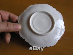 Early Antique 5 Demitasse Cups and saucers Eggshell Hand Painted RS R S Prussia