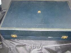 FAB VINTAGE ROYAL COPENHAGEN CASED SET SIX (6) DEMITASSE CUPS & SAUCERS 1960s