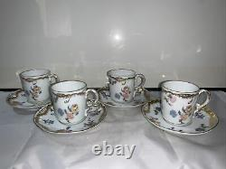 FOUR Sets Of Antique Pennsylvania Railroad Demitasse Cups And Saucers RARE