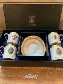 Faberge Imperial Egg Demitasse Cup & Saucer (Set of 4)