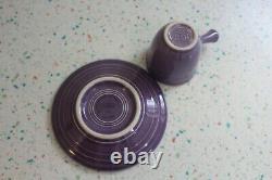 Fiestaware Lilac Demitasse AD Cup and Saucer NIB